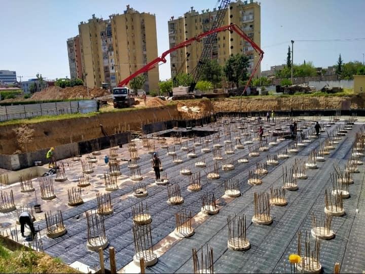Adana Spor Kompleksi Derin Temel Uygulaması Ø80